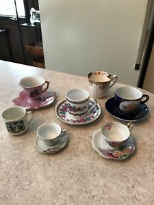 Lot Of 7 Vintage China Teacups Tea Cups And Saucers