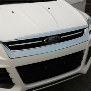 For Ford Escape Kuga Auto Front Hood Bonnet Grille Cover Mesh Abs Trim 2013 2015