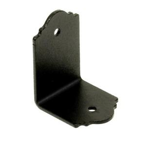 30 Pack Outdoor Accents 2x Zmax Galvanized Steel Black Powder coat 90 Angle