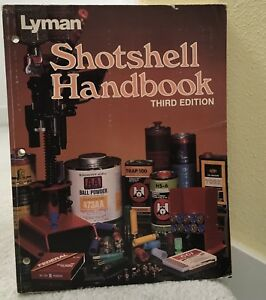 Lyman Shotshell Reloading Handbook 3rd Edition 1987 Printing Book Softcover