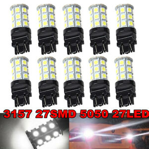 4pcs White 3157 24 Smd Led Light Bulbs Daytime Running Backup Reverse 3757 3457