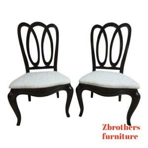 Pair Pennsylvania House New Standards Ribbon Pretzel Back Dining Side Chairs A