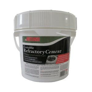 Rutland Castable Refractory Cement 25 Pounds Fire Pit Grill Brick Oven Material