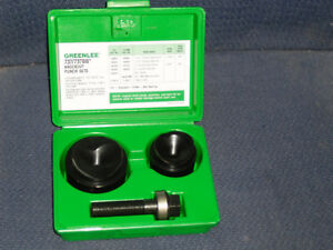 Greenlee 737bb Ball Bearing Knockout Punch Set W Case 1 1 2 And 2 Almostnew