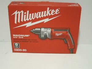 Milwaukee 0200 20 3 8 1200 Rpm Magnum Drill Free Fast Priority Shipping Nisb