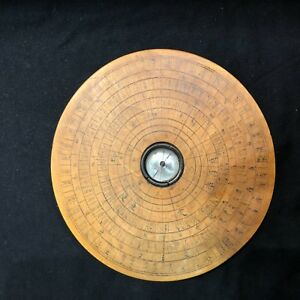 Antique Wood Wooden Chinese Compass An Yang Xi Sign In The Back