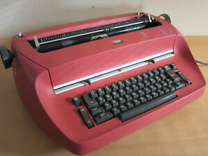 Vintage 1971 Ibm Selectric Model 715 Red Electric Typewriter Needs Work