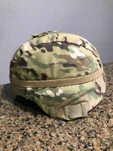 MSA MICH ACH Helmet w Cover & Advanced Combat Pads  Size Large