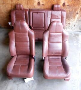 2008 Ford F250 Super Duty King Ranch Brown Leather Seats Front Rear Oem