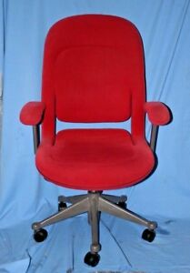 Herman Miller Equa Task Computer Chair High Back Adjustable Office Chair Red