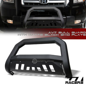 For 2006 2014 Honda Ridgeline Matte Black Avt Edge Bull Bar Brush Bumper Guard
