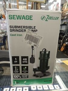 Zoeller 2701 0005 1 Hp Cast Iron Residential Grinder Pump New
