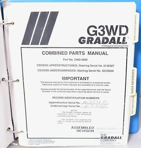 Gradall G3wd Combined Parts Manual 2460 4085