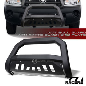 For 2005 2015 Toyota Tacoma Matte Blk Avt Edge Bull Bar Brush Push Bumper Guard