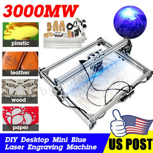 Diy 50 65cm Area Laser Engraving Cutting Machine Printer Kit Desktop 3000mw Gift