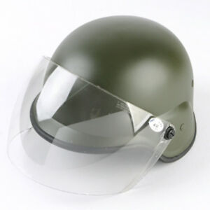 Airsoft M88 PASGT Kelver Helmet with Clear Visor Tactical Outdoor Helmet OD