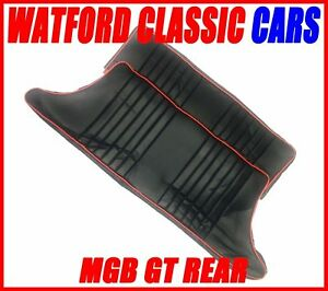 Mgb Gt Pair Rear Seat Cover All Years Leather Look Black Red