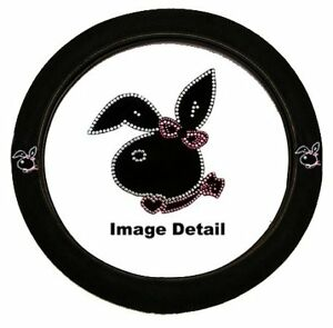Play Girl Bunny Crystal Studded Rhinestone Steering Wheel Cover