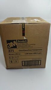 3m Scotch r Box Sealing Tape 371 Clear 48 Mm X 914 M 6 Rolls Per Case Bulk