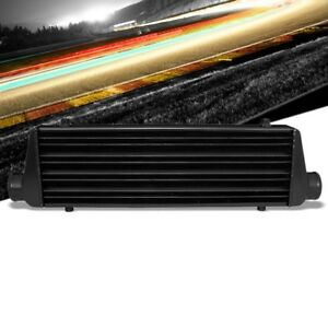 Universal Black Aluminum Tube Fin 27 675l Turbo Front Mount Style Intercooler