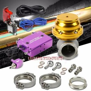Purple Dual Stage Electronic Turbo Charger Boost Control gold External Wastegate