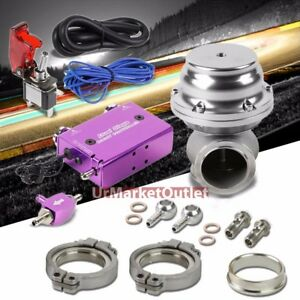 Purple Dual Stage Electronic Turbo Boost Control switch silver Ext Wastegate