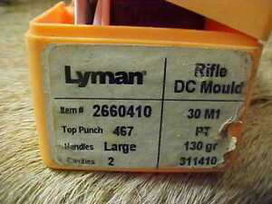 1 Lyman Double Cavity Bullet Mold Mould No 311410BV Looks NOS 130 G