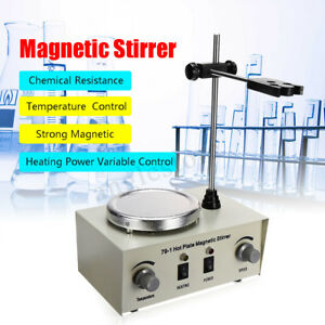 110v 79 1 1000ml Hot Plate Magnetic Stirrer Lab Heating Dual Control Mixer Us