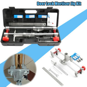 8pc Mortice Door Fitting Jig Lock Mortiser Dbb Key Jig1 With 3 Cutters