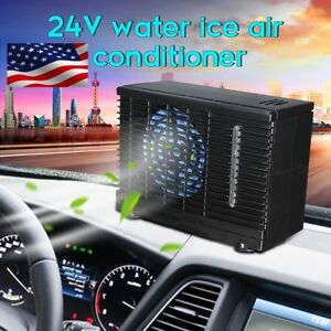 24v Car Evaporative Air Conditioner Portable Cooler Water Cooling Mini Fan 60w