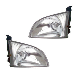 Headlights Front Lamps Pair Set For 01 03 Toyota Sienna Left Right