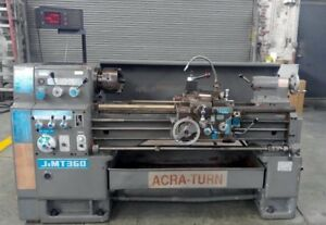 Acra turn 14 20x40 Gap Bed Engine Tool Room Lathe 3 Jaw Chuck Dro s Tool Post