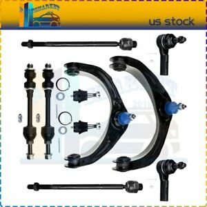 Front Upper Control Arm Ball Joints Sway Bar 10pcs For 2006 2007 Dodge Ram 1500