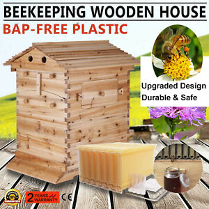7pcs Free Flow Honey Hive Frames Beekeeping upgraded Beehive Cedarwood Brood Box