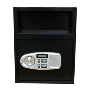 Large Digit Electronic Keypad Lock Depository Cash Jewelry Money Gun Safe Box