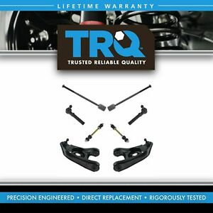Trq Front Steering Suspension Kit Control Arms Sway Links Tie Rods 8pc New