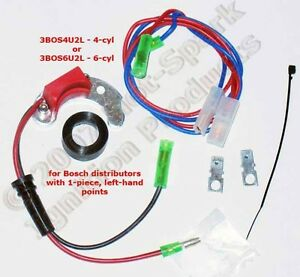 Electronic Ignition Conversion Kit 4 cyl Bmw 1 piece Left hand Points 3bos4u2l
