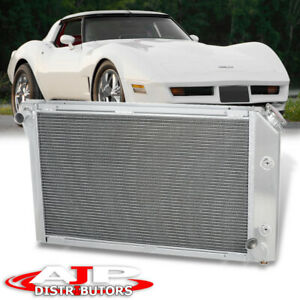 Aluminum 3 row core Performance Cooling Radiator For 1977 1982 Chevy Corvette Mt