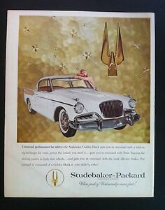 1957 Studebaker Golden Hawk 275 Hp Twin Traction Original Print Car Ad 1956 C