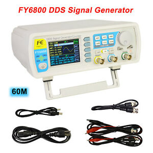 Fy6800 60mhz Dual channel Arbitrary Waveform Dds Function Signal Generator Pulse