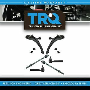 Front Steering Suspension Kit Control Arms Ball Joints Tie Rods Sway Links 8pc