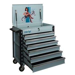 Sunex 8057xteleanor Full Drawer Service Cart pin Up Girl Eleanor