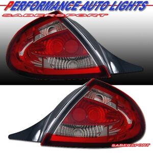 Set Of Pair Red Clear Taillights For 2000 2002 Dodge Neon