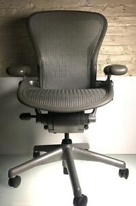 Herman Miller Aeron Chair Size b Adjustable Arms