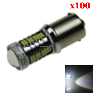 100x White Rv 1156 Parking Blub Rear Lamp 33 32 X 4014 Smd 1 Cree Led Z20883