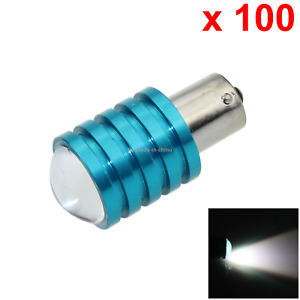 100x White Car 1156 Single Light Daytime Blub 1 Emitters Cree Led S25 7506 D046