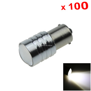 100x White Car 1156 Running Light Turn Blub 1 Emitters Cree Led 1141 61 1247 D06