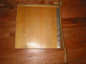 Vintage Ingento 1152 Photo Paper Cutter 18 Cutting Board Style B Guillotine