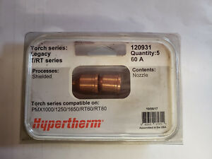 New Genuine Hypotherm Tips 120931 Pack Of 10 Pmx1000 1250 1650 rt60 rt80