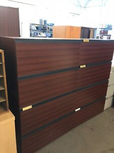 4dr Lateral Size File Cabinet By Lacasse Office Furniture In Mahogany Laminate